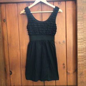🖤 3/$20 Xhilaration Ruffle Little Black Dress (S)